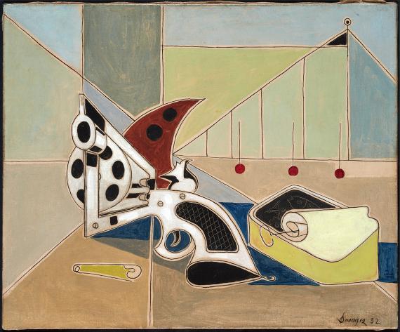 "Óscar Domínguez, ""Le revolver"", 1952 óleo sobre tela 38 x 46,5 cm"