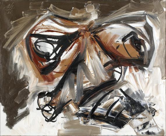 """Antonio Saura """"Autoretratto 2"""" 1966 oil on canvas 60 x 73 cm"""