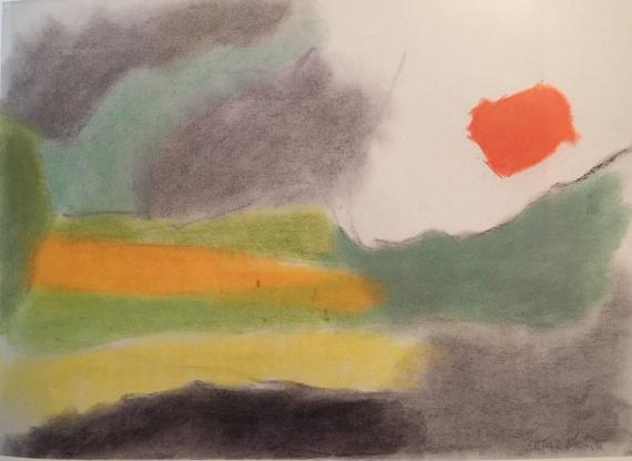 "Esteban Vicente, ""Composición"", c.1980 pastel on paper 56 x 75,5 cm"