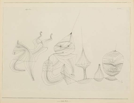 "Paul Klee, ""Obertöne"", 1928, ink on paper, 45,1 x 58,7 cm"