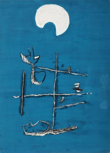 """Jaume Sans, """"Untitled"""", 1932-1935 gouache on paper 32,5 x 22,5 cm"""
