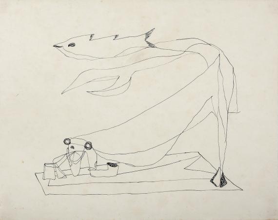 "Jaume Sans, ""Untitled"", 1932-1935 ink on paper 21,5 x 27,2 cm"