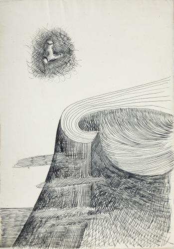 "Jaume Sans, ""Untitled"", 1932-1935 ink on paper 31,2 x 22 cm"